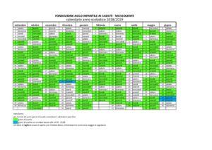 Calendario Scuola Infanzia.Calendario Scolastico Scuola Dell Infanzia Di Mussolente